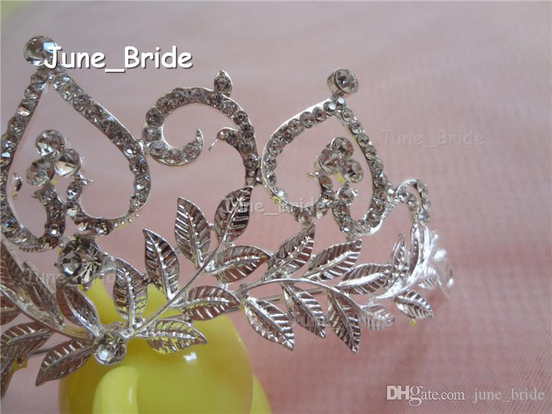 Luxury Big Crown New Arrival Real Photos Glass Crystal Rhinestone Bridal Wedding Crowns Hair Accessories Occassion Party Beauty Crown