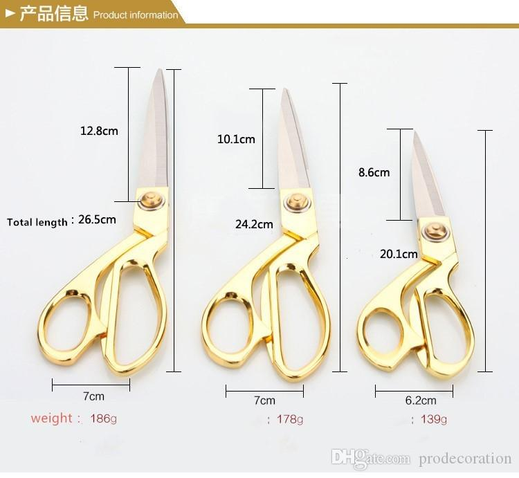 New Classical Stainless Steel Alloy Tailor Scissors For Cutting Festive Gift Wedding Ceremony Top Quality Gold Sewing Tool
