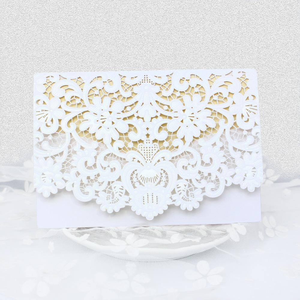 Wholesale Red White Gold Elegant Carved Embossed Flower Laser Cut ...