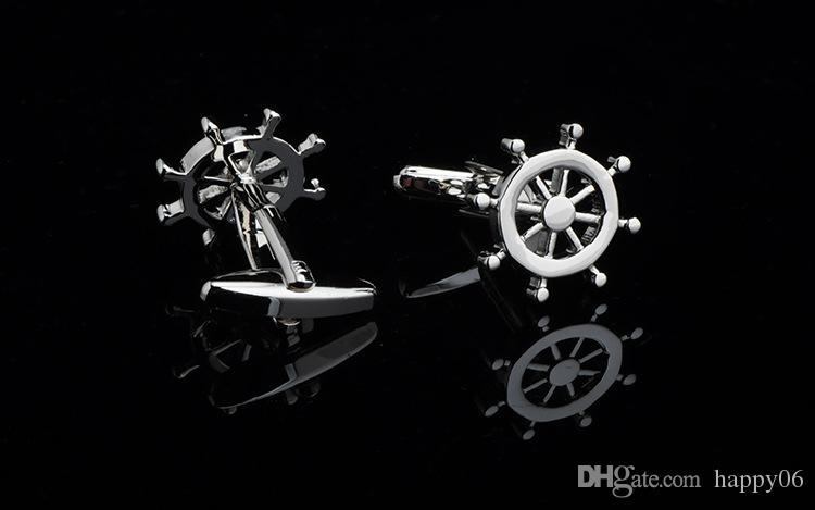 Hochqualiry neue Neuheit Manschettenknöpfe Rad Manschettenknopf für Männer Hemd Zubehör 6 Stück ein Los kostenloser Versand