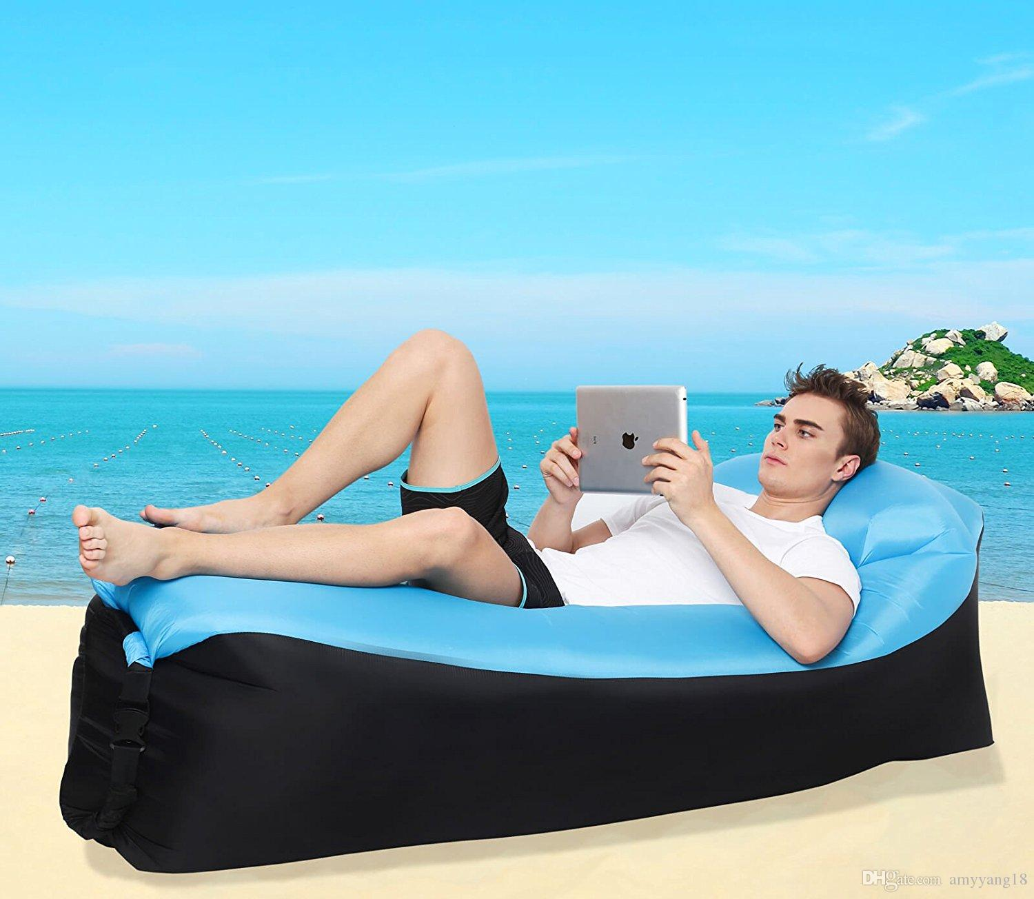 Lougnee Inflatable Lounger Air Sofa Portable Waterproof Home
