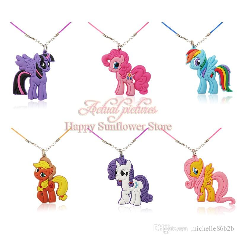 2018 my little ponies cartoon 2d charm necklace rope chain classical 2018 my little ponies cartoon 2d charm necklace rope chain classical pendants necklace for kids children pendents children party gifts from michelle86b2b aloadofball Gallery