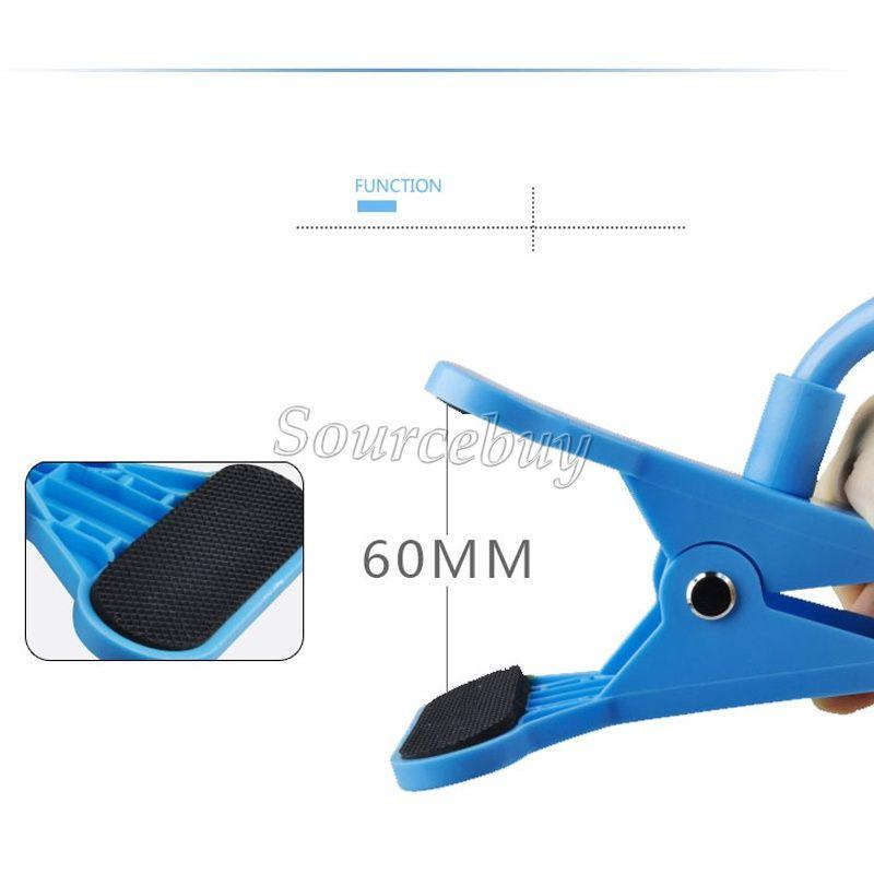Universal dois clipes preguiçoso suporte 360 graus girando 85cm suporte de telefone inteligente para iPhone samsung nota 3-7 polegadas cama desktop stand dhl