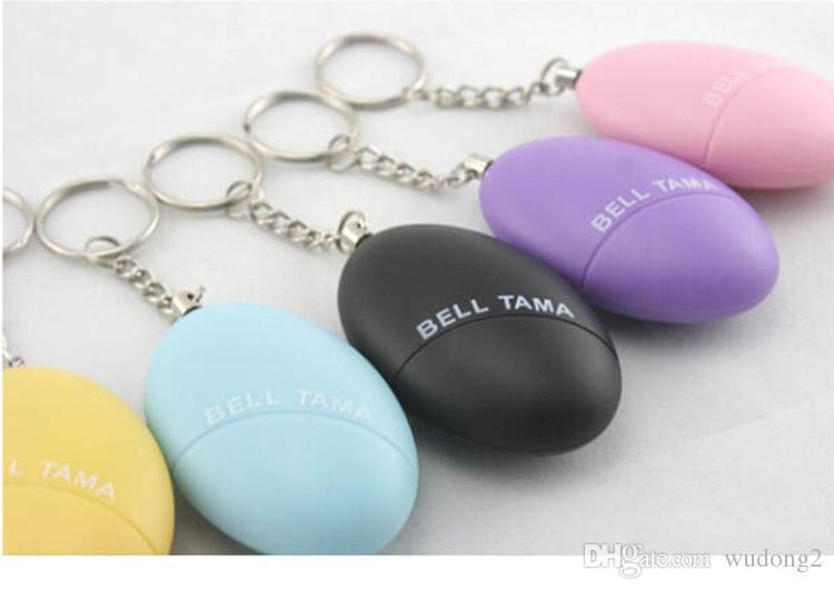 Alarmes pessoais Sino Tama Alto Seguro Estável 120 Decibéis Mini Portátil Keychain Alarme Seguro Futebol Panic Anti Estupro Ataque Segurança Segurança