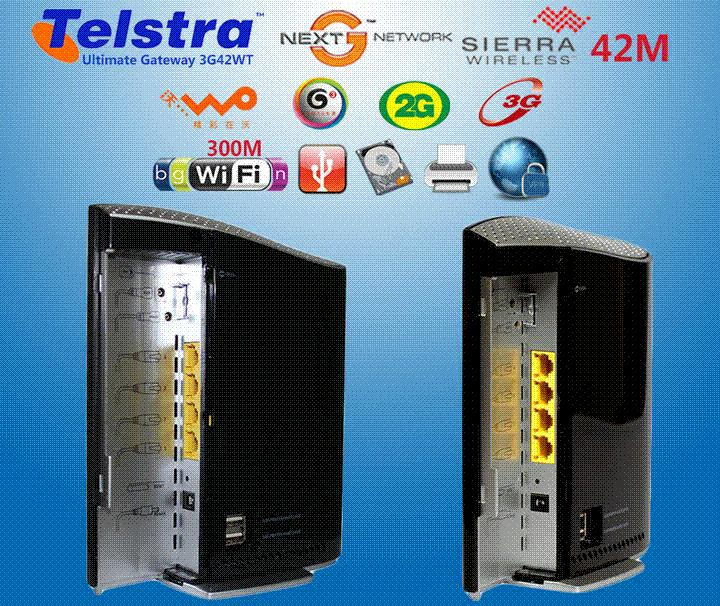 Unlocked Telstra Ultimate Gateway 3g42wt Dc Hspa+ 42mbps Wi Fi 3g ...
