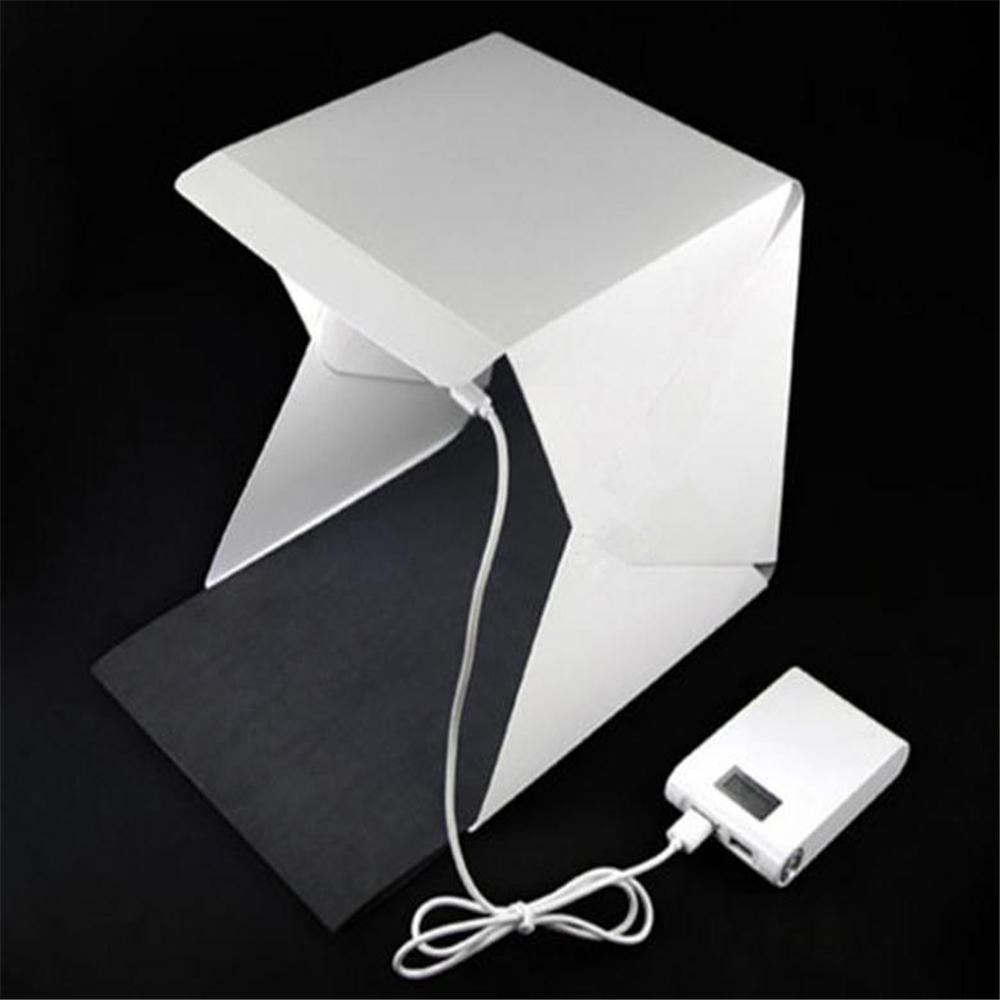 Wholesale- Mini Portable Folding lightbox Photography Photo Studio Softbox Lighting Kit Light box for iPhone Samsang Digital DSLR Camera