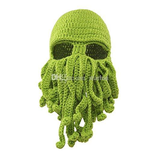 Handmade Knit Octopus Hat Adult Children Beanie Hat Cap Halloween Funny Party Masks Neck Face Mask Cycling Cosplay Ski Biker Headband WX9-19