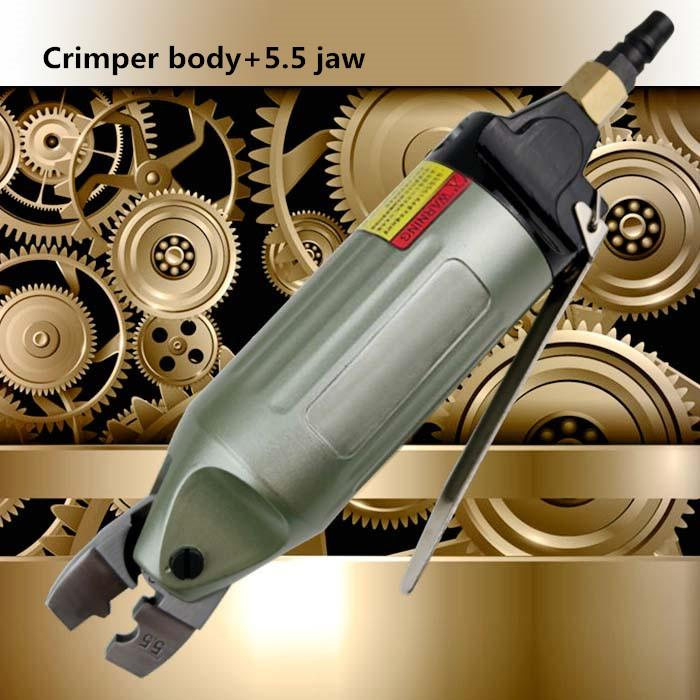 pneumatic terminal crimping tool air crimper cold compact plier nipple clamp wire cutter 1.25-2.0-5.0