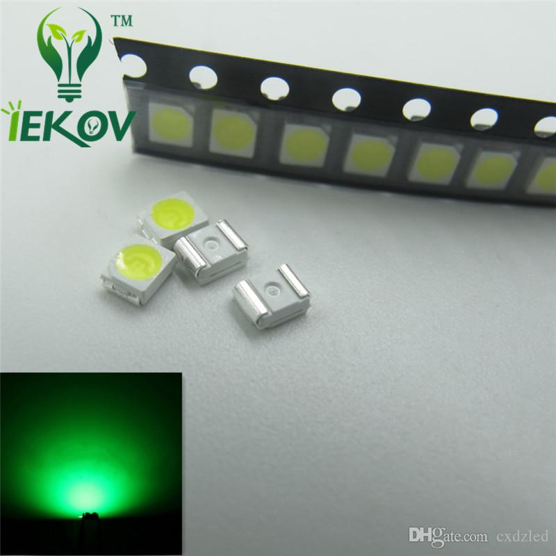 Green LED 1210 3528 PLCC-2 SMD Ultra Bright Light Emitting diodes 3.0-3.2V 520-530nm SMD/SMT Chip lamp beads Wholesale
