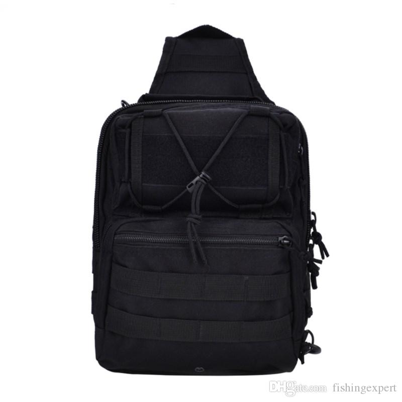 Men Single Shoulder Outdoor Bean Bags Combo 30cm Plain Hiking Gear Outdoor Bag and 20L Nylon Fishing Bag