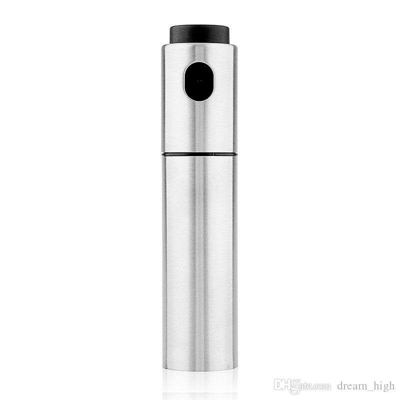 Silber Edelstahl Olive Pumpe Sprühöl Flasche Sprayer Können Öl Jar Topf Werkzeug Können Topf Kochgeschirr Küchenwerkzeuge