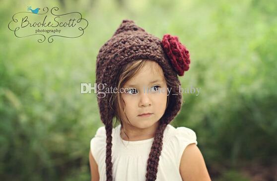 Flower Beanie Princess Hat Baby Girls Winter Cap Knitted Crochet Bonnet  Toddler Newborn Infant Kids Christmas Children Beanie Earflap Cotton UK  2019 From ... 0ad52fe75c8