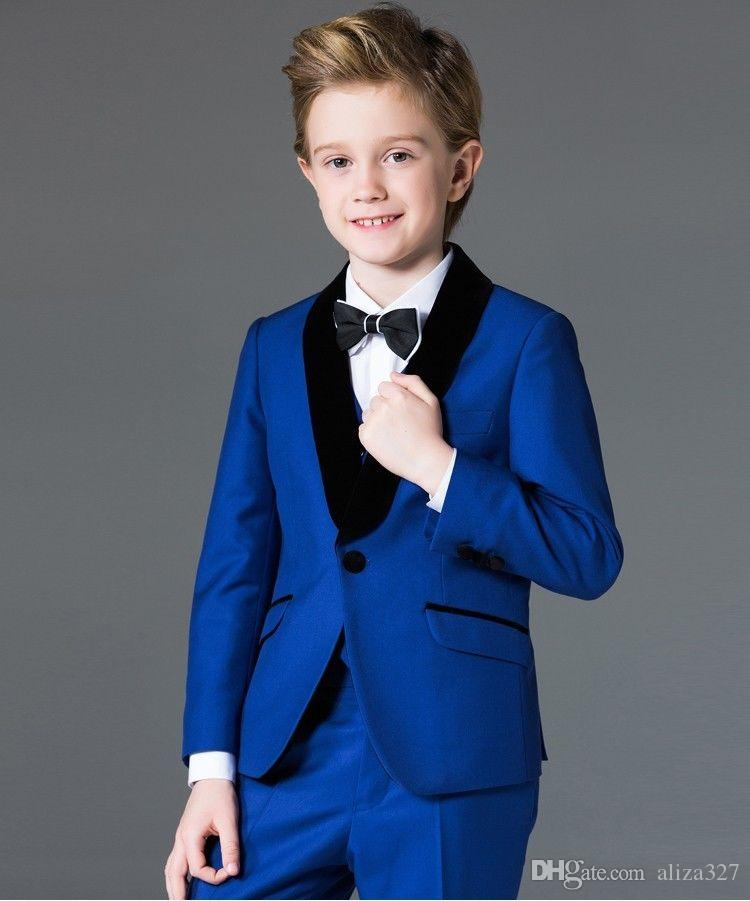 Boys Suits Suits Groom Wedding Tuxedo Page Boy Baby Formal Party ...