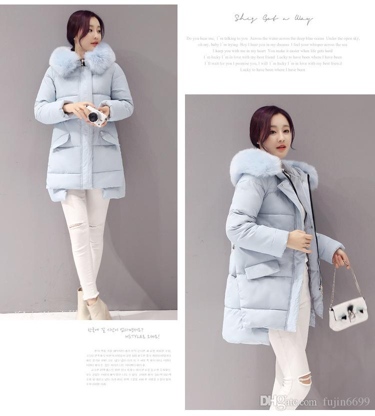 Down jacket women in the long section of the new winter 2016 maternity cotton large size women's Korean Mianmao collar wool jacket