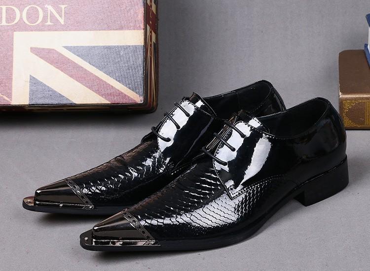 1b8d0dde138c2 Mens Patent Leather Black Shoes Classic Wedding Shoes Men Lace Up Dress  Italian Shoes