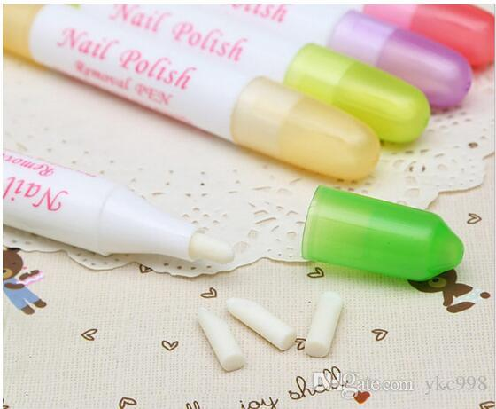 Nail Art Polish Corrector Remover Cleaner Pen + 3 Replacement Manicure Nail Art mix color 2016