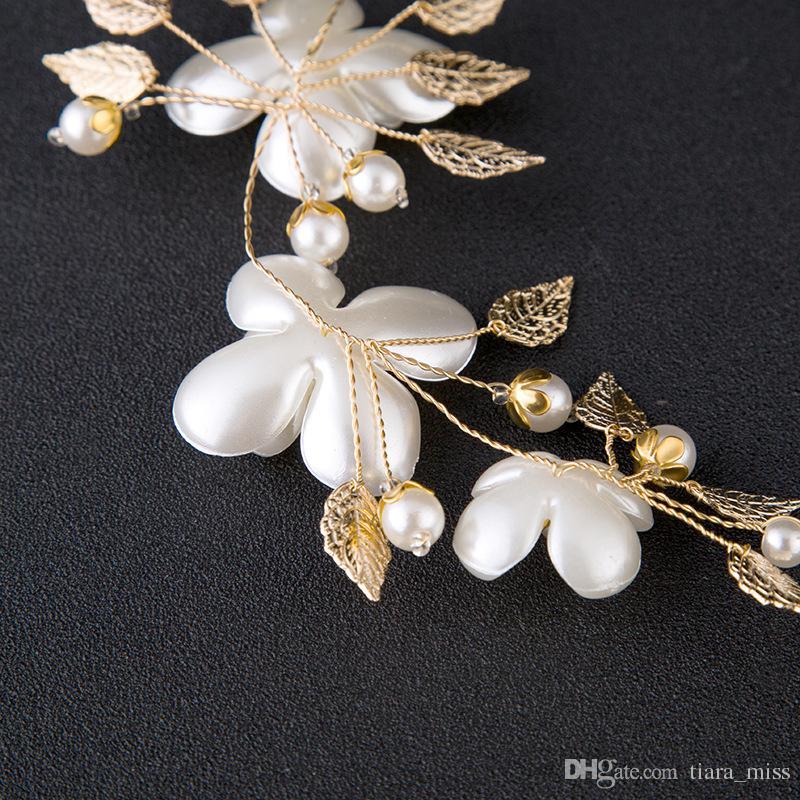 New Fashion Pearl Flower Headpiece Wedding Women Hair Accessories Special Occasion Bridal Headpiece Headbands