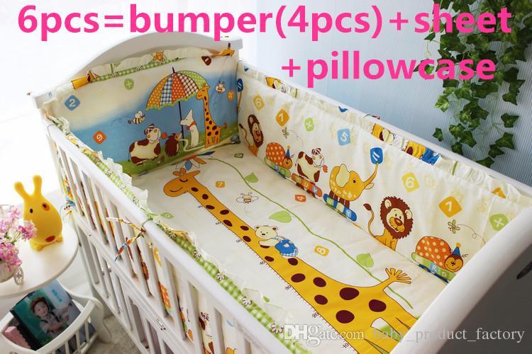 Großhandel 2016 6 Stücke Baby Bettwäsche Set Babybett Kinderbett