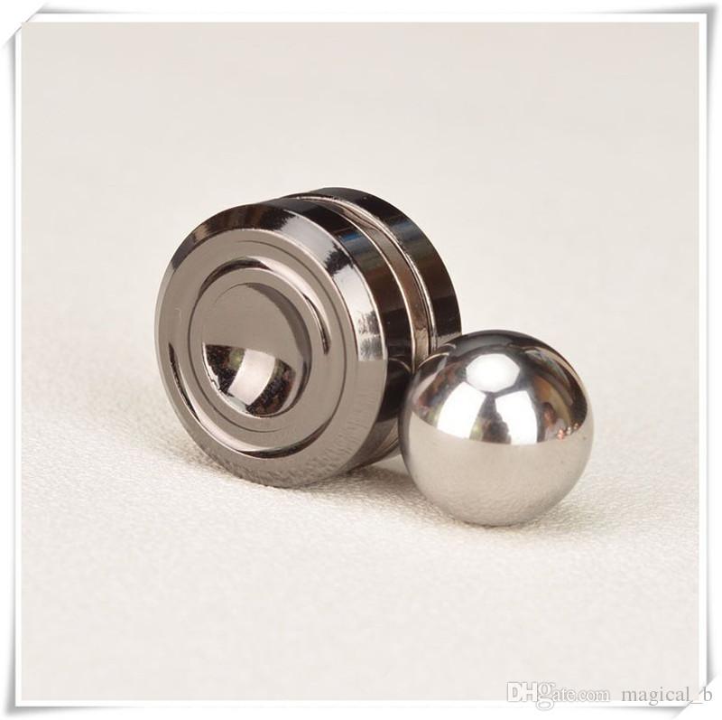 10 stücke Magnetic Fidget Orbiter mit Stahlkugeln Neodym-magneten 3 Farben SUS Hand Spinner EDC Neuheit Zappeln spielzeug Spinner Dekompression
