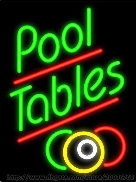 Pool Tables Neon Sign Handcrafted Custom Real Glass Tube Store - Neon pool table