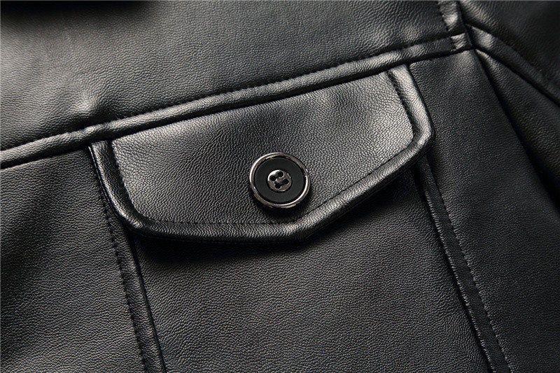 Оптово-2019 новый мужской пальто меха Кожа Шинель зима теплая мода Jaqueta De Couro кожаная куртка плюс бархат верхней одежды QK