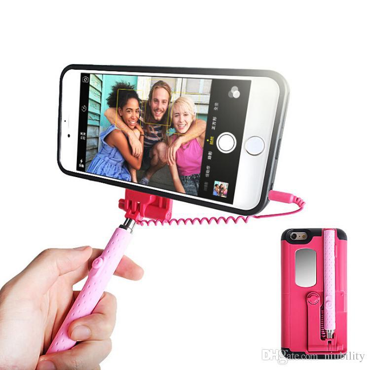2016 estuche rígido para Iphone 7 6 Plus con el eje flexible de la manera vs billetera estuche de cuero de la PU para S7 LG marco de la cubierta caja de TPU paquete al por menor