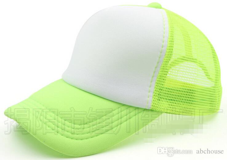 Heißer Verkauf Akzeptieren Maßgeschneiderte Logo Kid Größe 44-53 cm Erwachsene Größe 54-63 cm Kinder Trucker Cap Erwachsene Mesh Caps Leere Trucker Hüte Hysteresenhüte