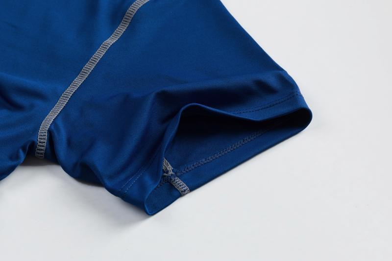 Hot Men 's T-shirt Compression Fitness Collants Blanc Football Tops Coupe du Monde Jersey En Gros Pas Cher 2018