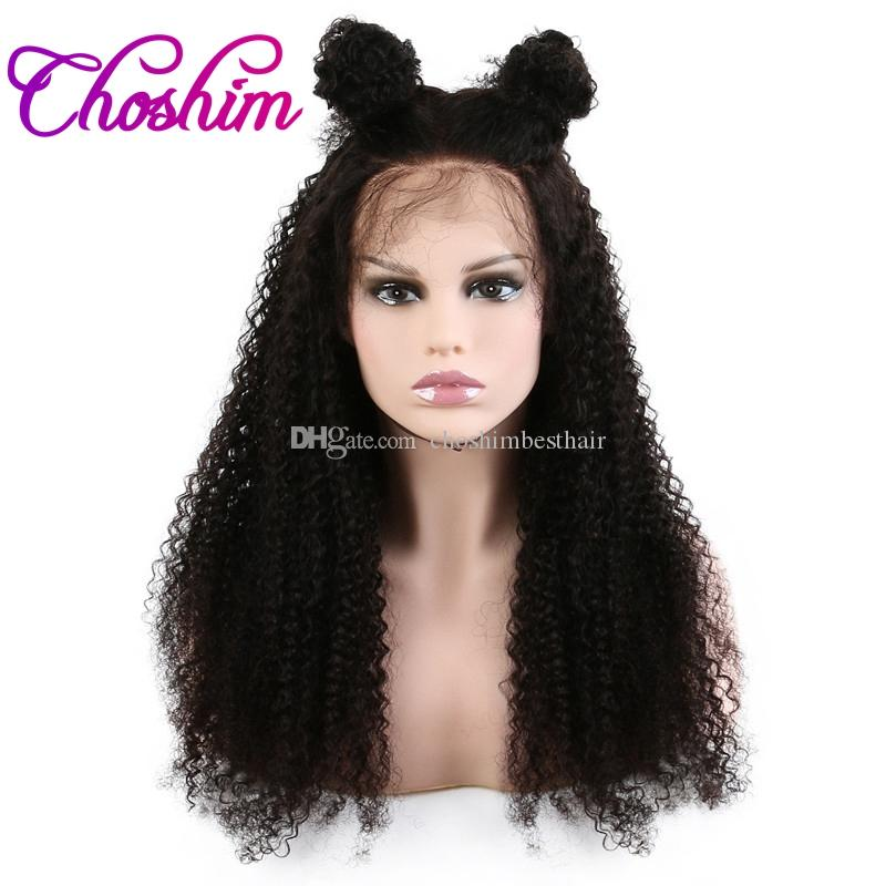 Choshim 150% Density Lace Front Human Hair Wigs For Black Women Brazilian Afro Kinky Curly Remy Hair Lace Wigs With Baby Hair KL