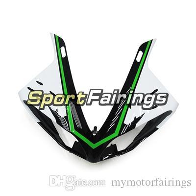 Coberturas brancas pretas da injeção do ABS para Yamaha YZF R1 09 - 11 anos YZF-R1 2009 2010 2011 Carimbos de plástico Carrocerias do corpo do jogo da carenagem