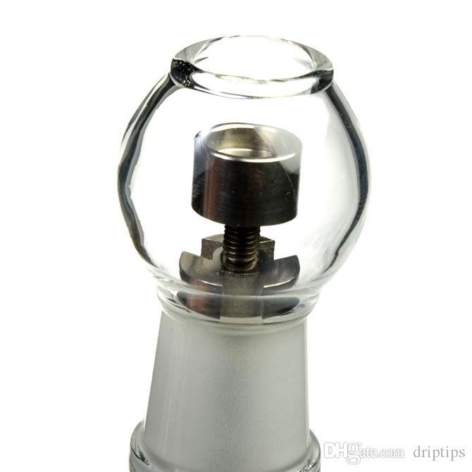 200 piezas de uñas de titanio 10 mm 14 mm 18.8 mm estándar roscadas GR2 ajustable de titanio clavo clic n vape para el globo de incienso Dab Oil Rig Free DHL