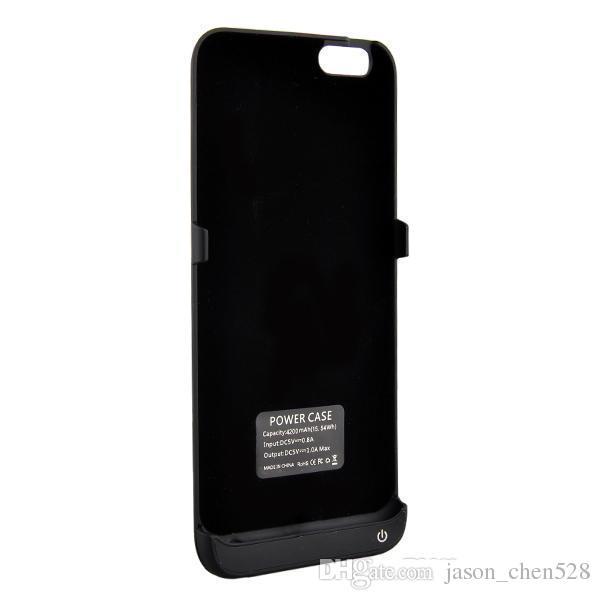 Ceket Pil Kutusu kapağı 4200 mAh Güç Bankası Arka Dış Telefon iPhone 6 4.7 inç Perakende paketi ile Standı
