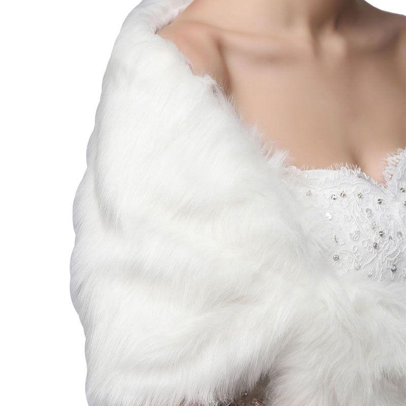 Half Sleeve Women Winter Wedding Faux Fur Jacket Bolero Wraps Bridal Coat Wedding Bolero Fur Bridal Shurg 17002