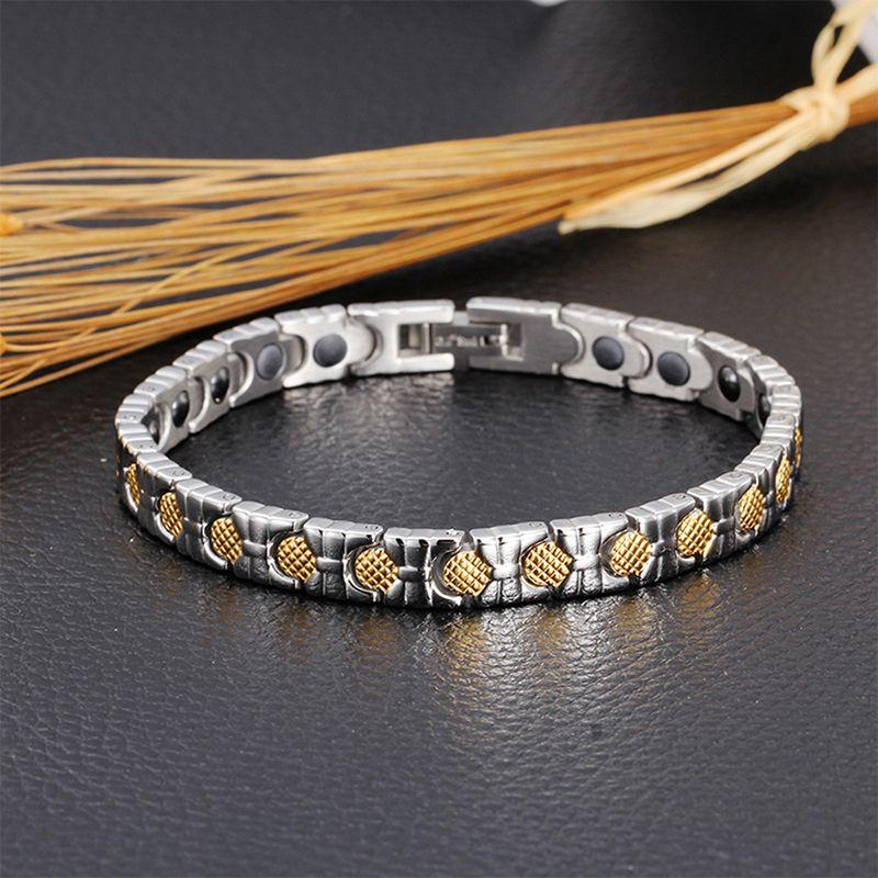 New Brand Women Healing Health Germanium Bracelet Femme Bio 18k Gold Mackerel Scale Design Bangle Hot sale Link Hand Chain Fashion Jewelry