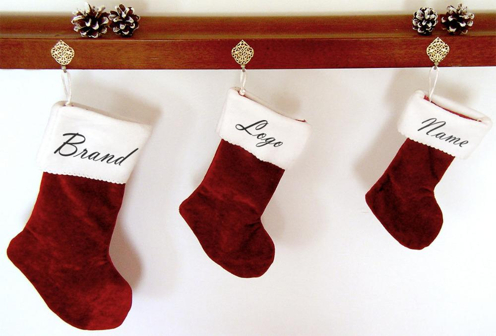 Personalized Name Christmas Stocking , Red Velvet Classic Xmas ...