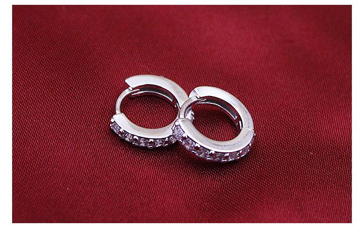 여자를위한 지르콘 패션 쥬얼리 약혼 선물로 925 스털링 실버 작은 후프 귀걸이 무료 배송, 좋은 품질