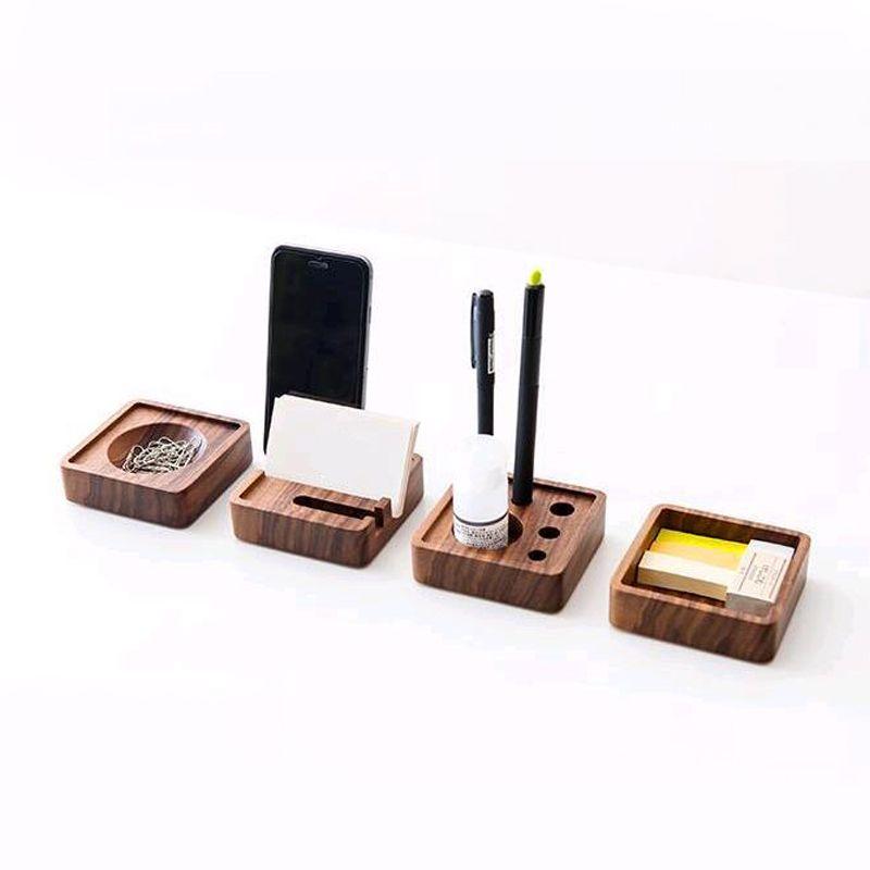 Best Whole Creative Wooden Stationery Desk Set School Supplies Accessories Office Organizer Stackable Under 41 Dhgate Com