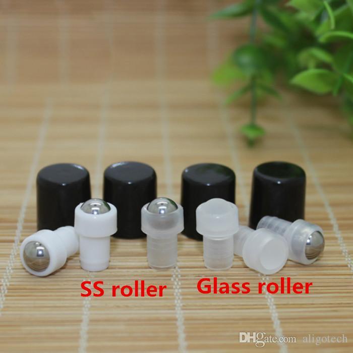 1ml Roll-On Empty Glass Bottles Amber Roll Metal Roller Ball Bottle Essential Oil Liquid fragrance Bottle Free DHL Shipping