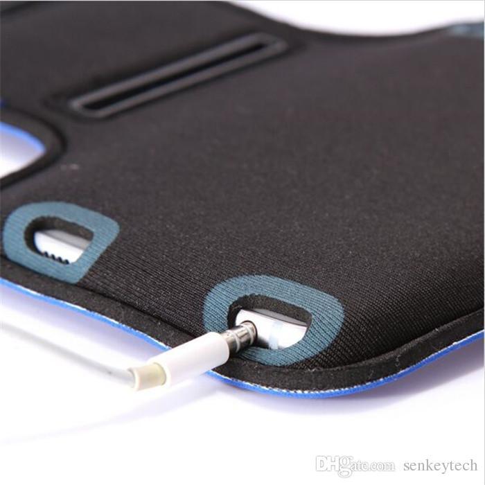 For Samsung S6 iPhone Adjustable SPORT GYM Armband Bag Case Waterproof Jogging Arm Band Mobile Phone Belt Cover