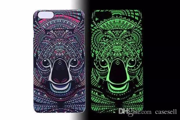 Fashion Glow in the dark Luminous king of forest lion wolf hard cases case back cover for Apple iphone 6 6s or 6 plus 6s plus