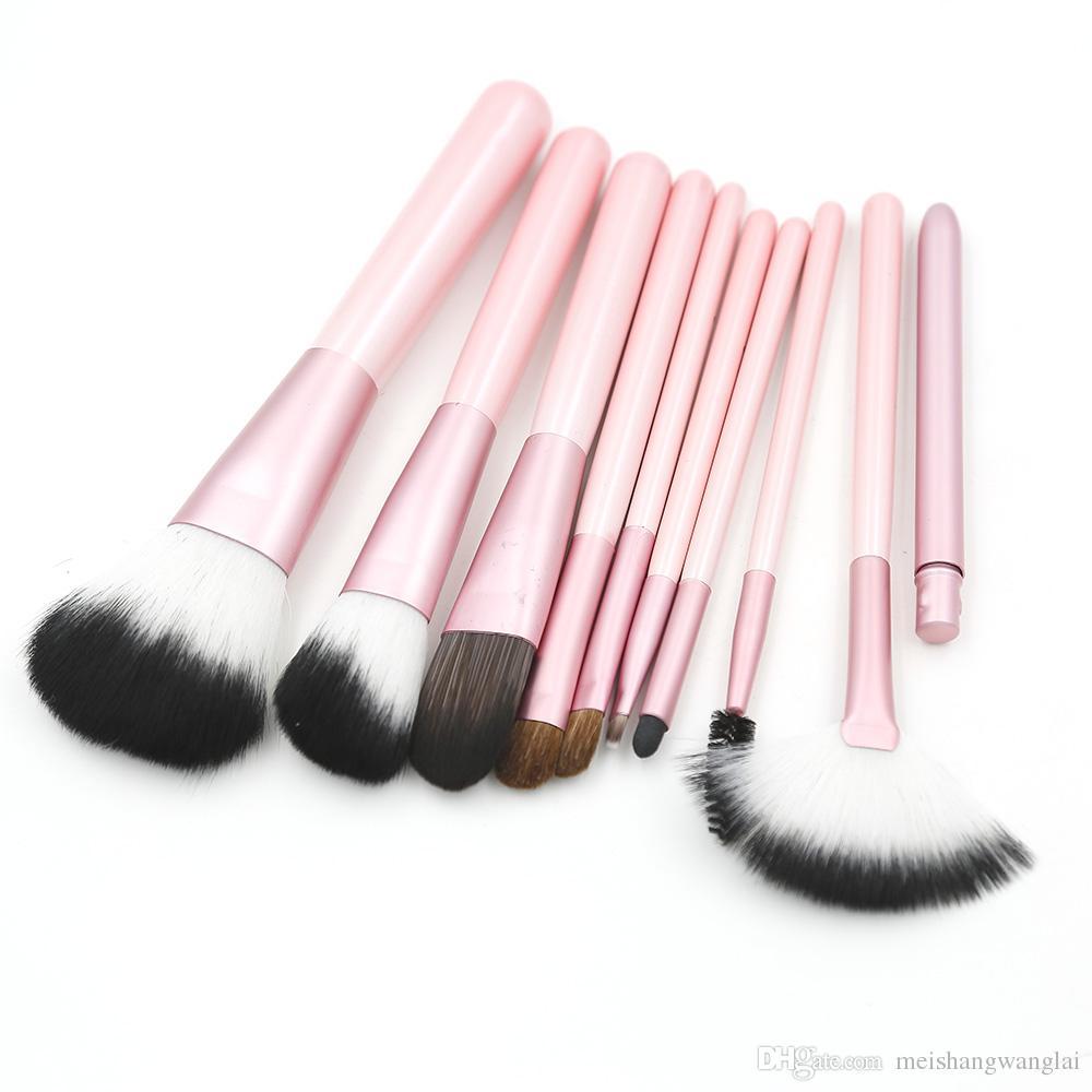 Pennelli trucco rosa Pennello trucco nylon Pennello cosmetico / lotto Kit pennello trucco viso
