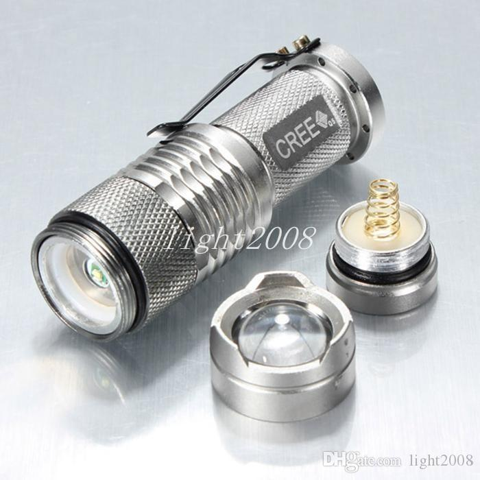 Wholesale - UltraFire Mini Flashlight 300LM CREE Q5 LED Zoom In/Out Torch 3-Mode 14500