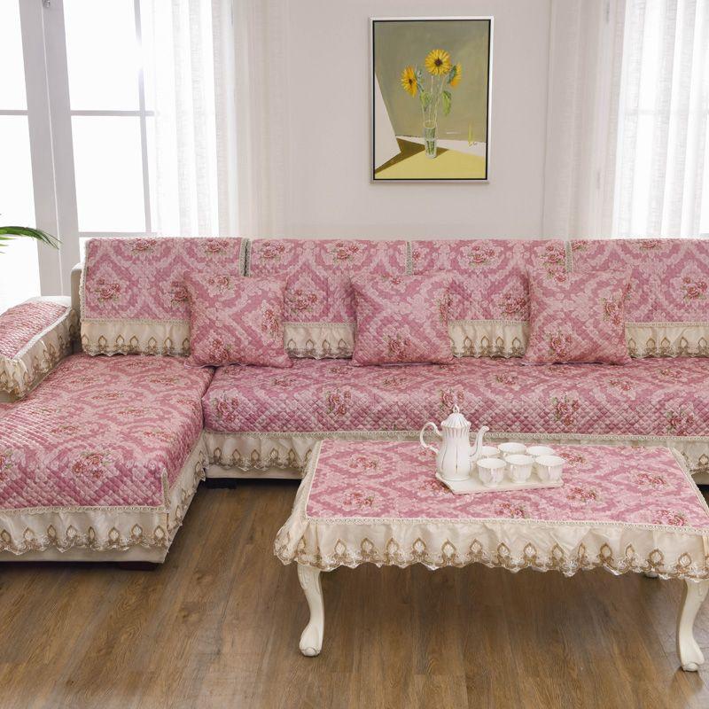 Unique Anti Skid Non Slip Pink Flower Sofa Pillow Couch Cushion Sofa ...