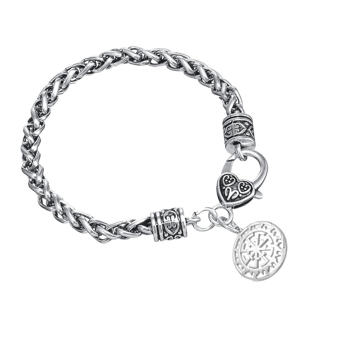 Lemegeton Direct Factory Low Cost New Vintage Antique Silver Kolovrat Paganism Pendant Solstice Sunwheel Charm Bracelet Jewelry