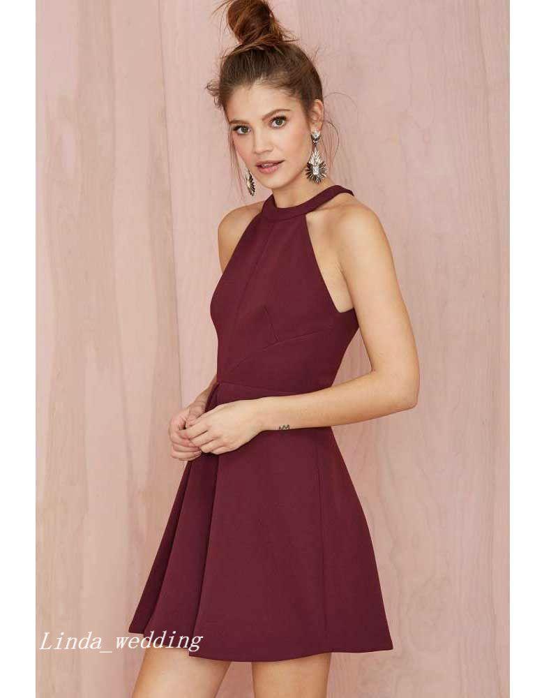 2019 Borgogna Prom Dress Vino di alta qualità Rosso Breve Occasione speciale Vestito Vestito da festa la laurea Ritorno a casa vestidos de fiesta cortos