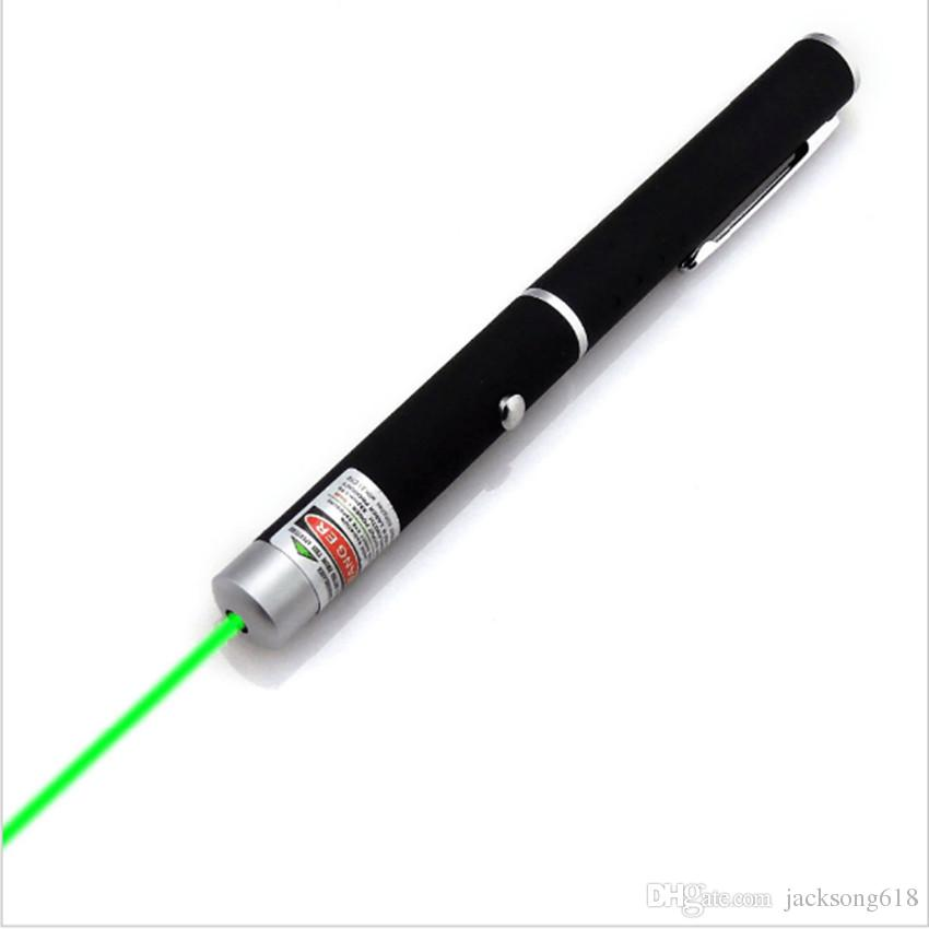 녹색 빛 레이저 펜 5mW 532nm 빔 레이저 포인터 펜 SOS 장착 야간 사냥 가르치는 크리스마스 선물 Opp 패키지 Wholesales /