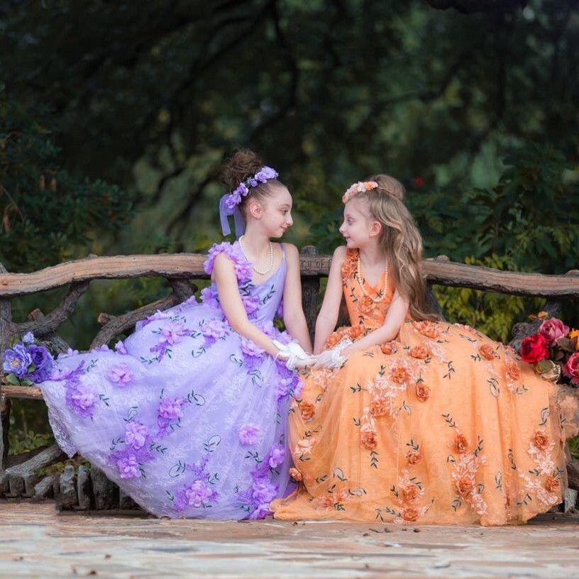 Flower Girl Dress2018 Hot Sale Pretty Girls Prom Dresses Ball Gown