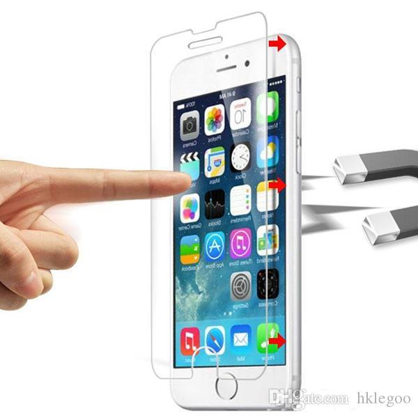 Protector de pantalla de vidrio templado para Iphone 7 6S Plus 5S 4S Samsung Galaxy S7 S6 S5 Note 5 LG G5 sin paquete