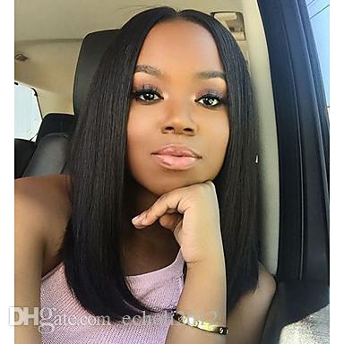 Dora Lace Front Human Hair Wigs For Black Women Straight Middle Part Bob  Lace Front Wigs Human Hair Lace Front Wigs Black Women High Quality Wigs  Silk Full ... 83061edb37