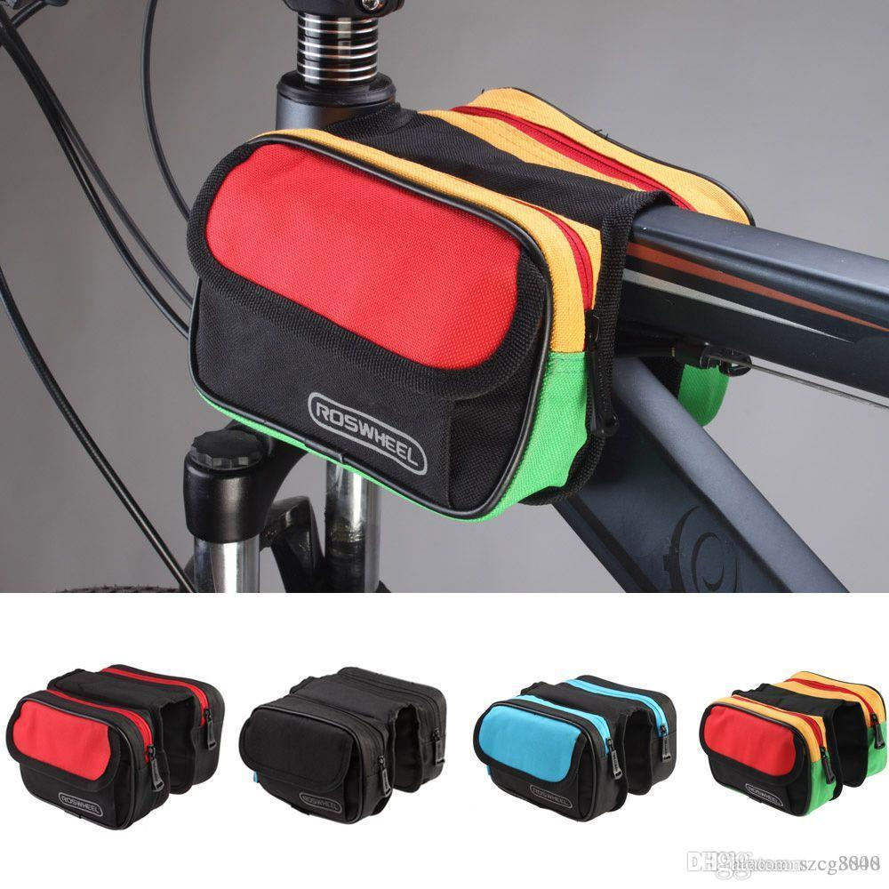 6b8291ab74fd 2019 Roswheel 1.5L Mountain Road MTB Bike Bicycle Bag Cycling Front Top  Tube Frame Pannier Double Bag Pouch From Szcg3000